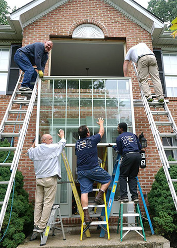 Window installation in Cockeysville MD Baltimore County. Large picture window replacement.