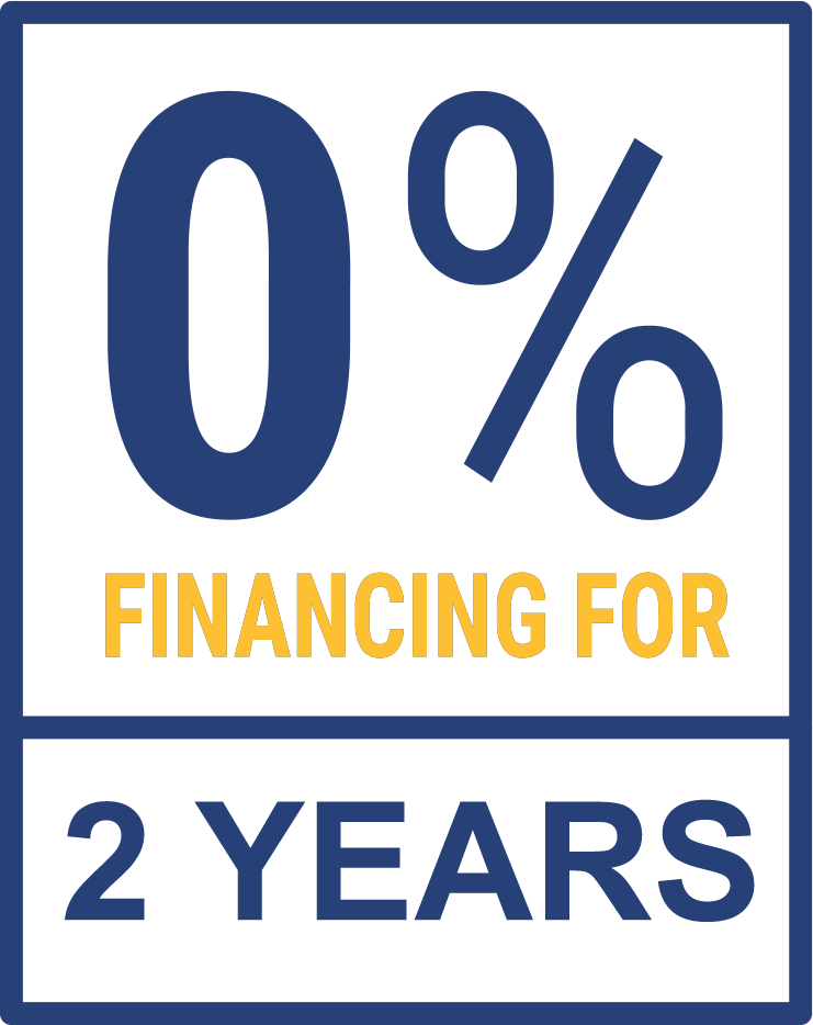 0% Financing for 2 Years