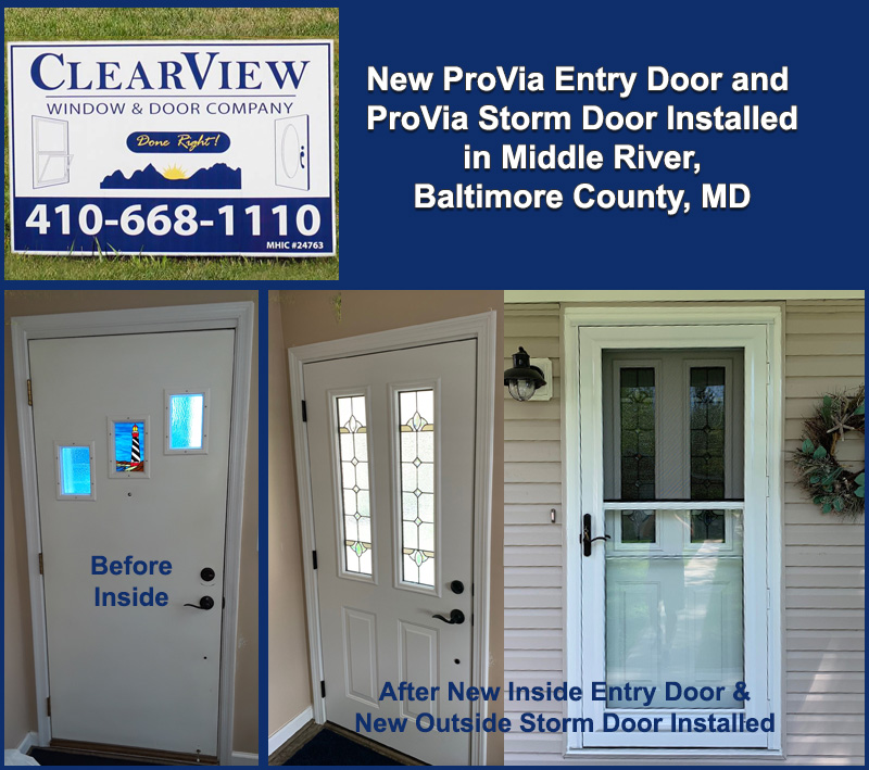 Middle River, Baltimore County, Maryland – New Front Entry Door and on