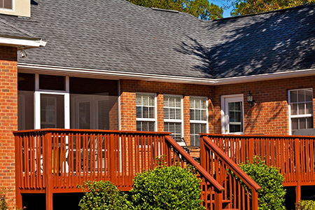 Residential Decks and Porches Designed, Built, and Renovated by Clearview. Wood or Composite Decking available.