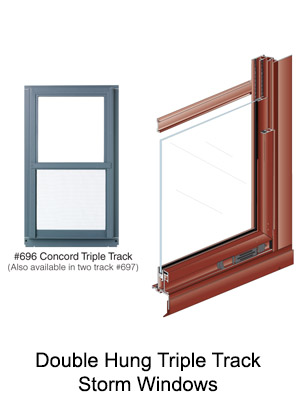 Double Hung Storm Windows Triple Track or Two Track