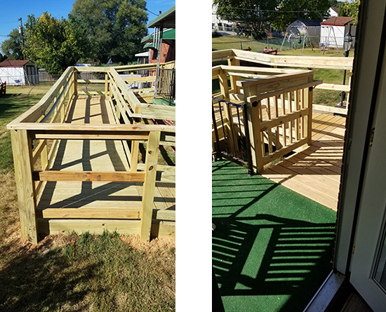 Porch / Handicap Ramp Contractor Baltimore, Sparks, Parkton, Monkton, Hereford, Reisterstown, Owings Mills