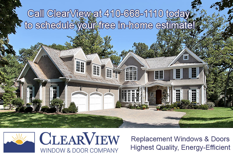Window installation in Towson MD Baltimore County. Whole house window replacement projects.