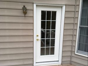 Replacement Entry Door Full Glass Grids Exterior View Baltimore
