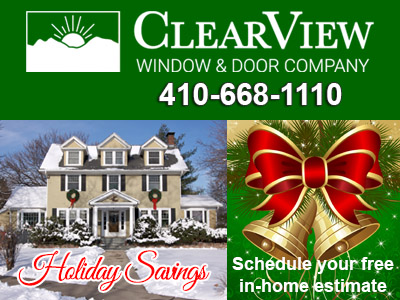 Holiday Savings ClearView Windows Doors Additions Siding Roofing Porches Sunrooms Decks and More