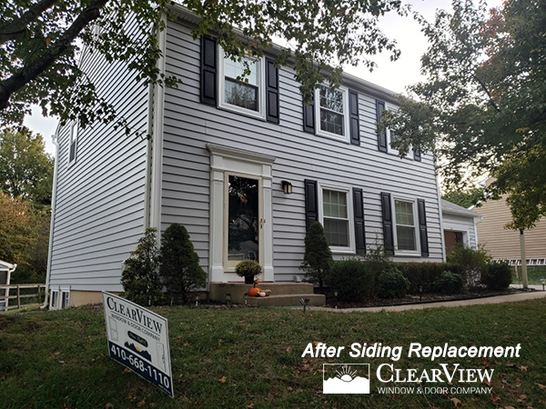 Custom vinyl siding installed by ClearView. Vinyl Siding Company