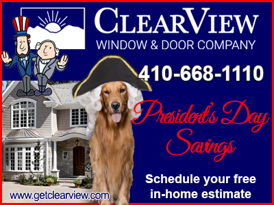 President's Day Sale from ClearView Windows Doors Additions Siding Roofing Porches Sunrooms Decks and More