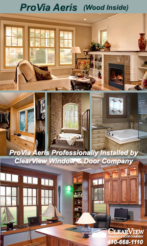 ProVia Aeris Vinyl Windows Professionally Installed by ClearView