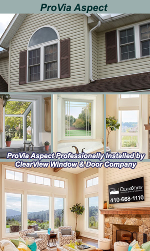 ProVia Aspect Vinyl Windows Professionally Installed by ClearView