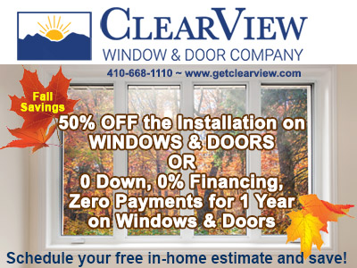 Windows and Doors up to 50% off Installation Fall Sale ~ Zero Down ~ Restrictions Apply
