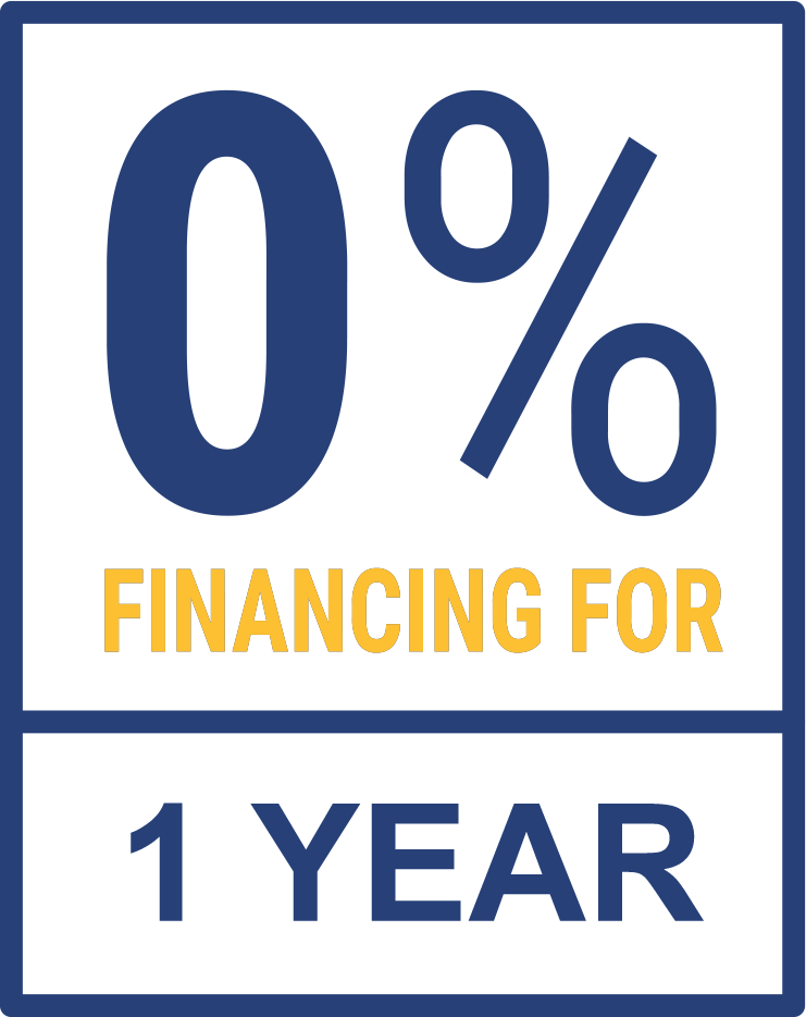 0% Financing for 1 Year