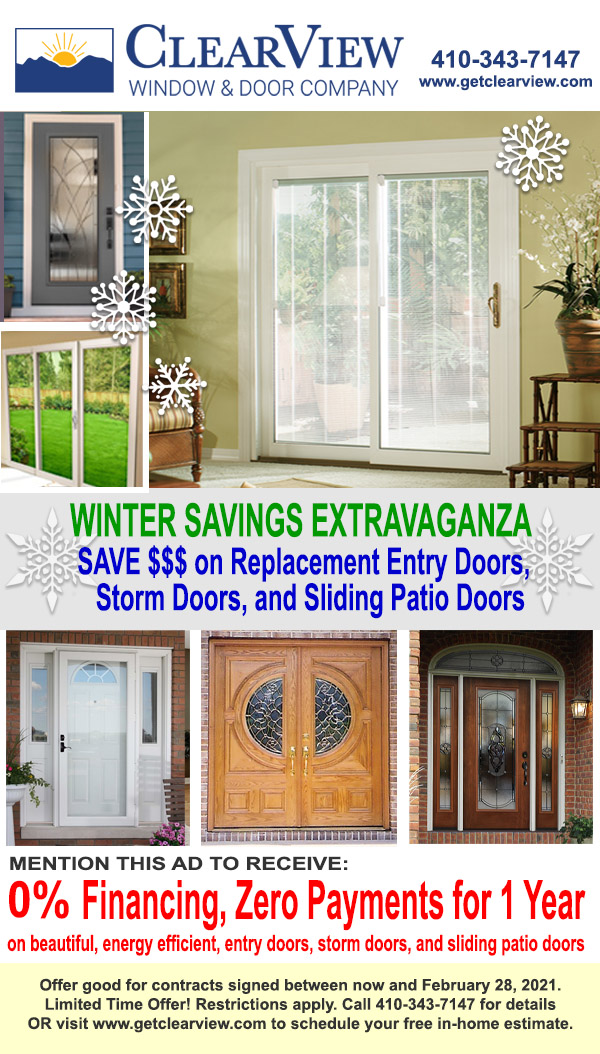 Entry Doors, Storm Doors, Sliding Patio Doors Save with 0% Financing, 0 Payments for 1 year, Restrictions Apply