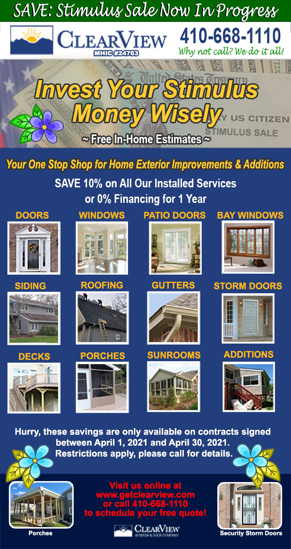 Spring Stimulus Savings All Our Installed Services during April